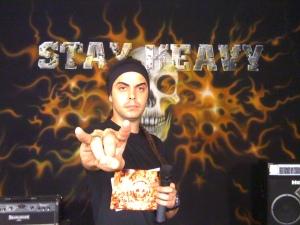 Vinicius Neves apresentador do Stay Heavy no FuteRock