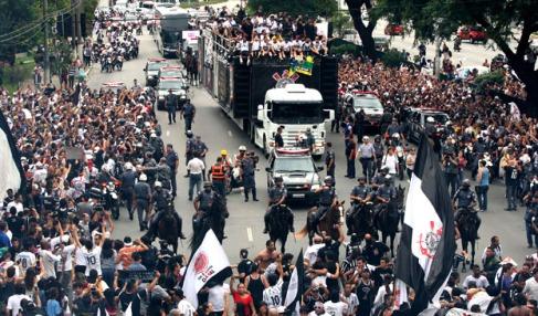 Desfile Corinthians em São Paulo-FuteRock