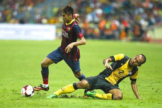 Neymar-Barcelona-X-Malaysia-XI-FuteRock